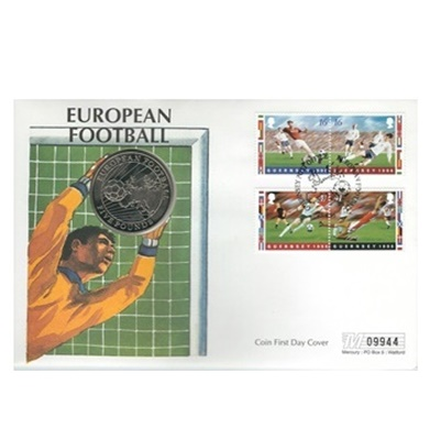 1996 BU Five Pound Coin - European Football